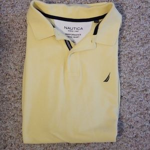 Nautica Men's yellow polo deck shirt XL